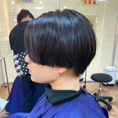 ショートヘア ダークトーン ショート グレージュ ヘアスタイルや髪型の写真・画像
