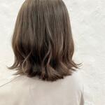 切りっぱなしボブ アンニュイほつれヘア ボブ 透明感カラー