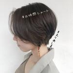 透明感カラー 大人ハイライト ショート ショートヘア