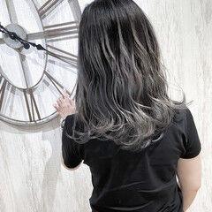 おしゃれさんと繋がりたい バレイヤージュ 3Dハイライト セミロング ヘアスタイルや髪型の写真・画像
