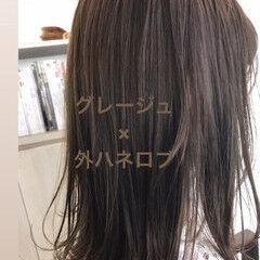 切りっぱなしボブ ストリート ニュアンスヘア 透明感カラー ヘアスタイルや髪型の写真・画像