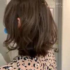 大人かわいい エレガント ハイライト ミディアム ヘアスタイルや髪型の写真・画像