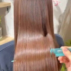 髪質改善トリートメント ナチュラル ツヤ髪 ロング ヘアスタイルや髪型の写真・画像