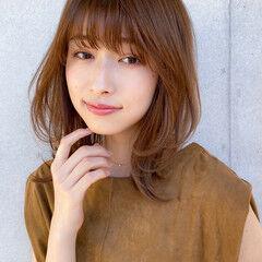 毛先パーマ アンニュイほつれヘア 大人かわいい ミディアム ヘアスタイルや髪型の写真・画像