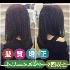 髪質改善トリートメント 髪質改善カラー ナチュラル うる艶カラー ヘアスタイルや髪型の写真・画像