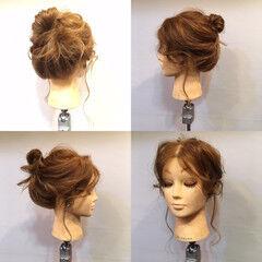 波ウェーブ ナチュラル ヘアアレンジ セミロング ヘアスタイルや髪型の写真・画像