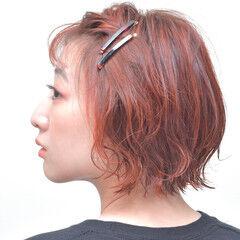 ボブ ボブアレンジ ナチュラル 切りっぱなしボブ ヘアスタイルや髪型の写真・画像