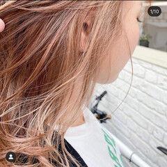 ミルクティー ミルクティーグレージュ ミルクティーアッシュ セミロング ヘアスタイルや髪型の写真・画像
