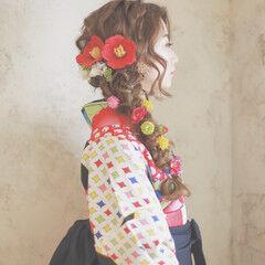 簡単ヘアアレンジ 成人式 ショート 外国人風 ヘアスタイルや髪型の写真・画像