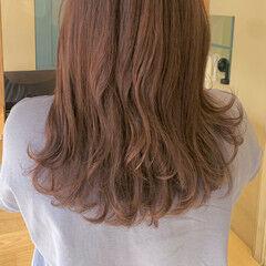 ピンクラベンダー ロング ラベンダーグレージュ カシスカラー ヘアスタイルや髪型の写真・画像