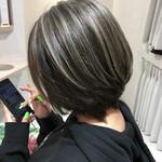 ブリーチ 外国人風カラー アッシュ 美髪