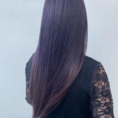 ロング 大人かわいい ピンクバイオレット 髪質改善 ヘアスタイルや髪型の写真・画像