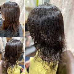 波ウェーブ 髪質改善 スパイラルパーマ 無造作パーマ ヘアスタイルや髪型の写真・画像