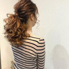 ヘアアレンジ ポニーテール ポニーテールアレンジ ヘアセット ヘアスタイルや髪型の写真・画像