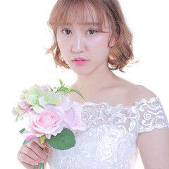 エレガント ヘアアレンジ お団子アレンジ 結婚式ヘアアレンジ ヘアスタイルや髪型の写真・画像