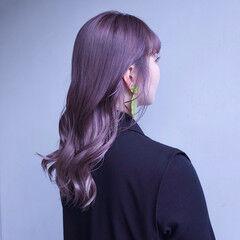 ハイトーンカラー 韓国風ヘアー ストリート セミロング ヘアスタイルや髪型の写真・画像