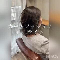 ミントアッシュ カーキアッシュ カーキ ミント ヘアスタイルや髪型の写真・画像