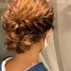 エレガント 結婚式ヘアアレンジ ハイライト ヘアアレンジ ヘアスタイルや髪型の写真・画像