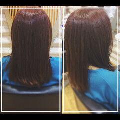 オフィス 髪質改善カラー 社会人の味方 髪質改善トリートメント ヘアスタイルや髪型の写真・画像