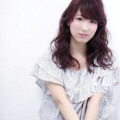 ガーリー ピンク ゆるふわ 姫カット ヘアスタイルや髪型の写真・画像