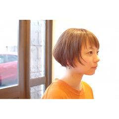 坊主 大人女子 ナチュラル ショート ヘアスタイルや髪型の写真・画像