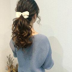 ヘアアレンジ ポニーテールアレンジ ポニーテール ローポニーテール ヘアスタイルや髪型の写真・画像