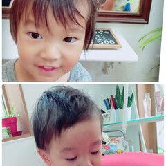 子供 ショート ストリート ボーイッシュ ヘアスタイルや髪型の写真・画像