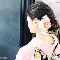 結婚式 振袖 上品 ロング ヘアスタイルや髪型の写真・画像