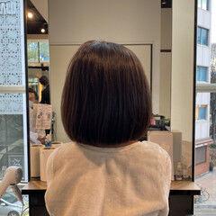 ナチュラル 艶髪 イメチェン ボブ ヘアスタイルや髪型の写真・画像