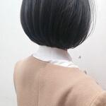美シルエット お手入れ簡単!! 暗髪 簡単スタイリング