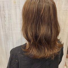 外ハネボブ なみウェーブ ボブヘアー ナチュラル ヘアスタイルや髪型の写真・画像
