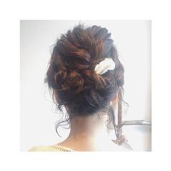 大人かわいい ゆるふわ ロープ編み ツイスト ヘアスタイルや髪型の写真・画像