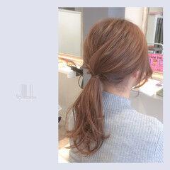 ヘアアレンジ ポニーテール セミロング ショート ヘアスタイルや髪型の写真・画像