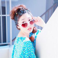 ヘアアレンジ ルーズ カラフルカラー ラフ ヘアスタイルや髪型の写真・画像