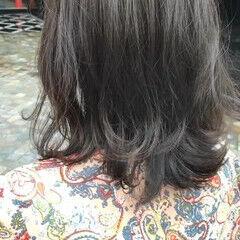 透明感 透明感カラー ミディアム イルミナカラー ヘアスタイルや髪型の写真・画像