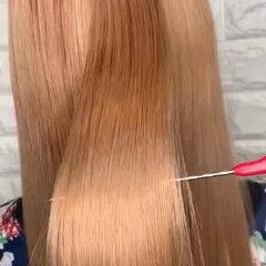 韓国ヘア 髪質改善 ガーリー サイエンスアクア ヘアスタイルや髪型の写真・画像