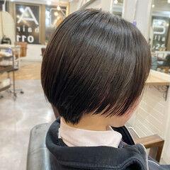 大人ショート ショートヘア 小顔ショート マッシュショート ヘアスタイルや髪型の写真・画像