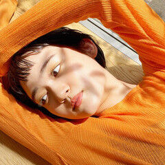 前髪パッツン ミニボブ ショートボブ オン眉ボブ ヘアスタイルや髪型の写真・画像