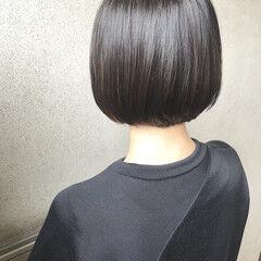 地毛風カラー グレージュ ボブ 透明感カラー ヘアスタイルや髪型の写真・画像