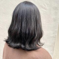 切りっぱなしボブ ゆるウェーブ ナチュラル ヘアアレンジ ヘアスタイルや髪型の写真・画像
