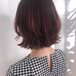 フェミニン インナーカラー ショートヘア ボブ
