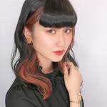 フェミニン 髪質改善トリートメント セミロング ブリーチカラー