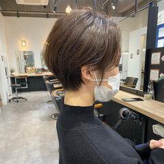 ショート コンサバ 大人ショート ショートボブ ヘアスタイルや髪型の写真・画像