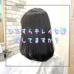 ストレート グレージュ ナチュラル ブリーチなし ヘアスタイルや髪型の写真・画像