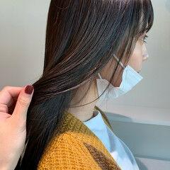 ロング 髪質改善 ナチュラル 髪質改善トリートメント ヘアスタイルや髪型の写真・画像