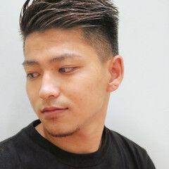 ツーブロック ショート 刈り上げ メンズ ヘアスタイルや髪型の写真・画像