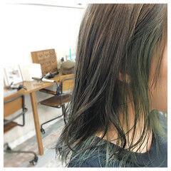 セミロング 圧倒的透明感 モード 外国人風カラー ヘアスタイルや髪型の写真・画像