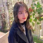 透明感カラー 韓国ヘア 暗髪 ナチュラル