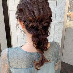 結婚式ヘアアレンジ 二次会ヘア 二次会アレンジ ナチュラル ヘアスタイルや髪型の写真・画像