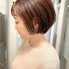 デート 大人かわいい ショート ナチュラル ヘアスタイルや髪型の写真・画像